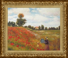 Claude Monet: Poppies Near Argenteuil