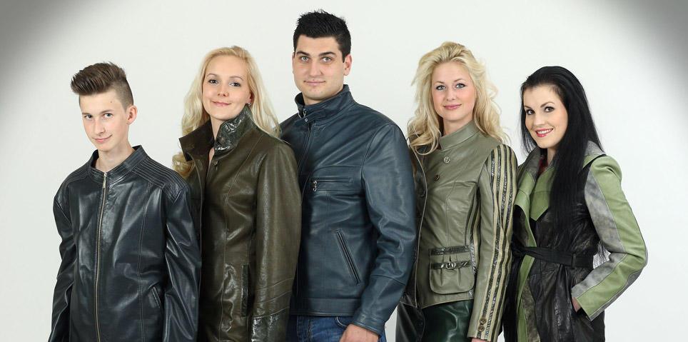Nova kolekcija  Usnjena oblačila za vse generacije, ki sledijo trendom mode.