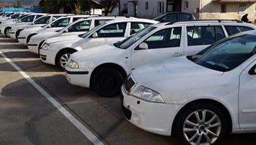 Rezervni deli in rezervna vozila na zalogi